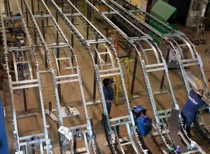 Installation of garment conveyor in Florida and Texas.