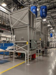 Industrial Laundry Conveyor System Installation for Canadian Hospital