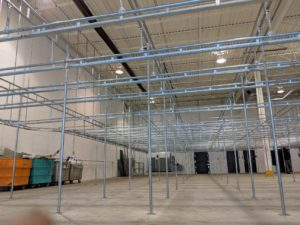 New V-Rail garment storage and transportation system for Unifirst Drummondville